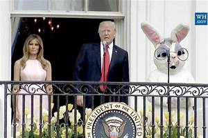 Melania and Donald Trump National Anthem Easter Egg Roll
