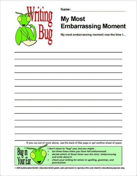 writing bug whats   embarrassing moment