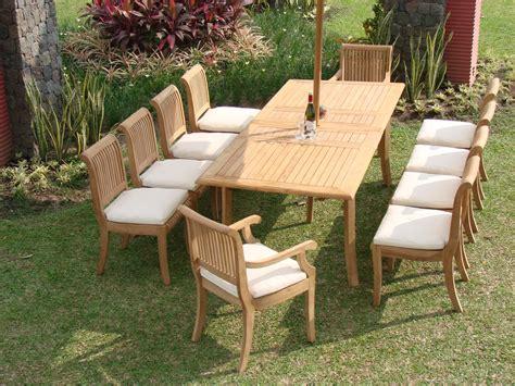 7 pc teak dining set garden outdoor patio furniture r09