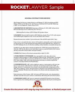 general contract for services form template with sample With general service agreement template free
