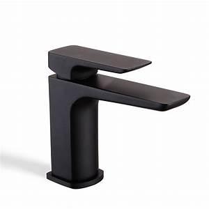 Mitigeur Noir Salle De Bain : robinet mitigeur lavabo noir mat qube ~ Edinachiropracticcenter.com Idées de Décoration