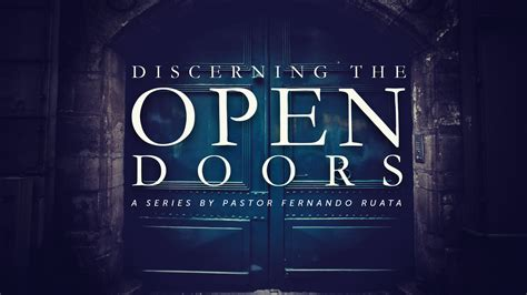 open doors   encourager church