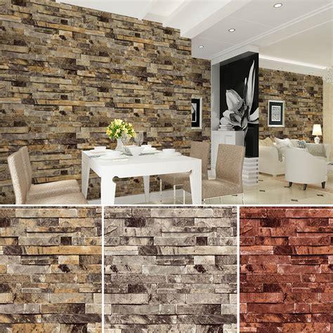 faux brick wall panels vinyl vintage wallpaper for