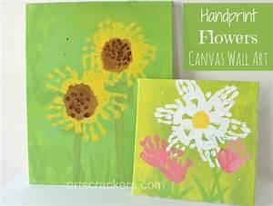 Handprint Flowers Canvas Wall Art Step By Step Tutorial