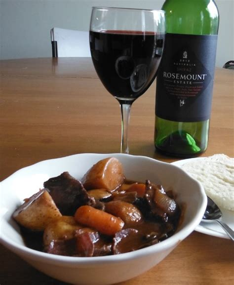 beef stew wine beef stew in red wine with bacon onions and mushrooms recipe dishmaps