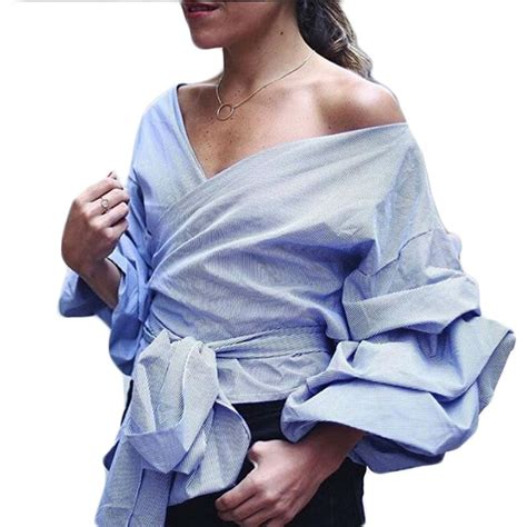 s shirts and blouses shirts tops and blouses 2016 fashion puff sleeve