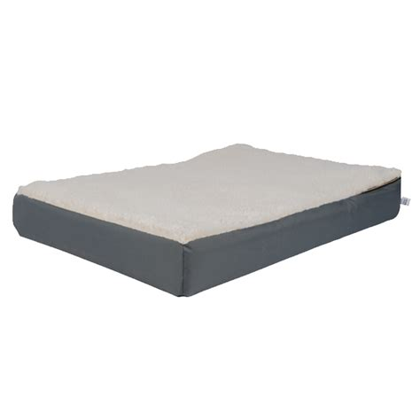 orthopedic bed orthopedic lounge bed w sherpa snoozer