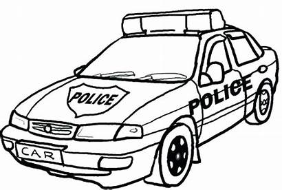Coloring Pages Police Dodge Muscle Ambulance Ram