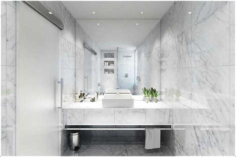 meuble salle de bains marbre blanc