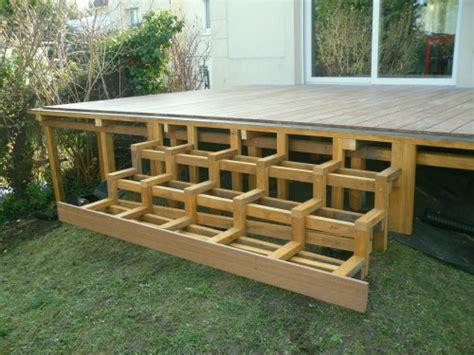 nivrem construire escalier terrasse bois diverses