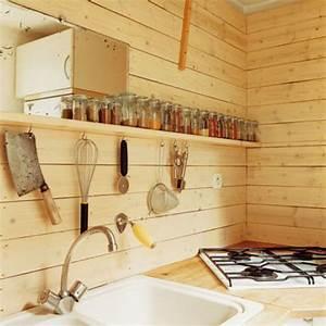 Planche De Bois Pour Mur Intérieur : une cuisine en bois pour une ambiance chalet de montagne ~ Zukunftsfamilie.com Idées de Décoration