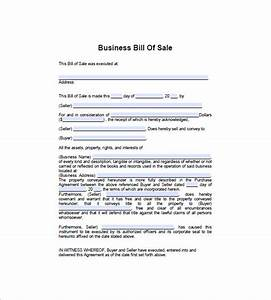 business bill of sale 7 free sample example format With bill of sale trade template