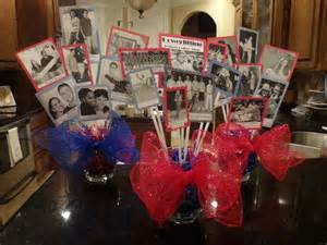centerpieces for class reunions picture center high school reunion party planning
