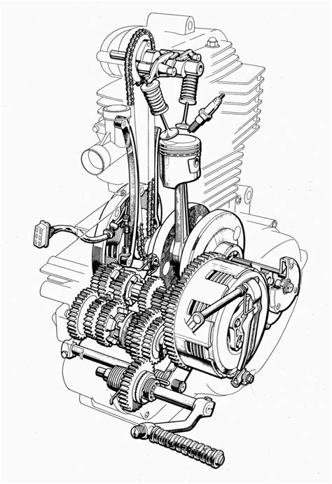 Images About Motorcycle Engines Blueprints