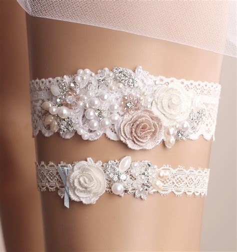 Wedding Garter Set Bridal Garter Set Lace Garter By