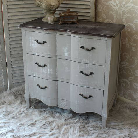 grey shabby chic bedroom furniture french grey vintage style chest drawers home bedroom furniture wood shabby chic ebay