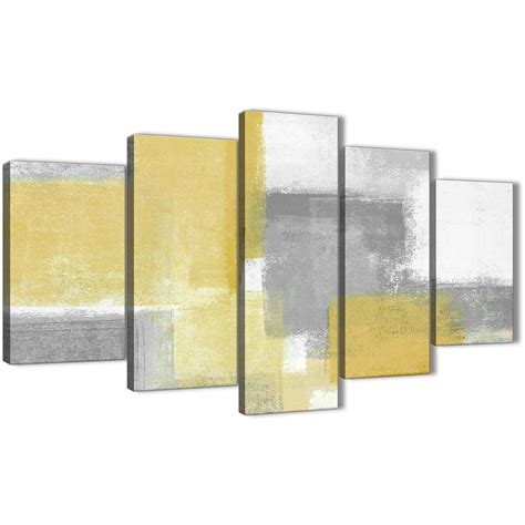 teal accessories for living room 5 mustard yellow grey abstract living room canvas