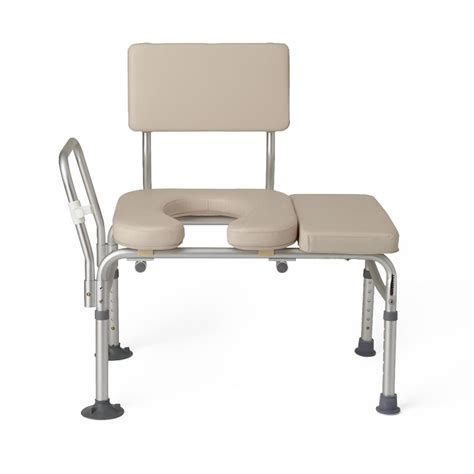 tub transfer bench guardian padded transfer bench with commode opening