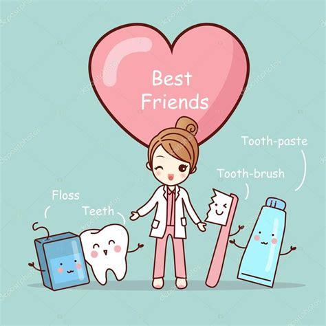descargar mejores amigos de dibujos animados lindo diente ilustraci 243 n de stock 127696014