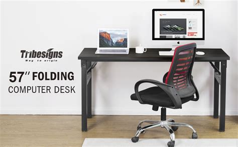 Office Desk No Assembly Required by Computer Desk Tribesigns 57 Inch Folding Office Desk