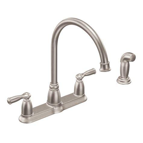 moen banbury high arc  handle standard kitchen faucet