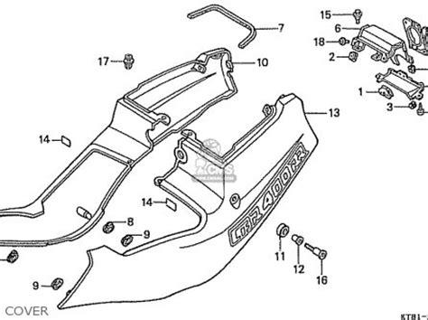 honda cbr400rrk nc23 domestic parts list partsmanual partsfiche