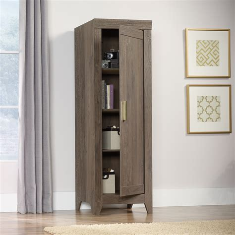 narrow storage cabinet adept storage narrow storage cabinet 418138 sauder