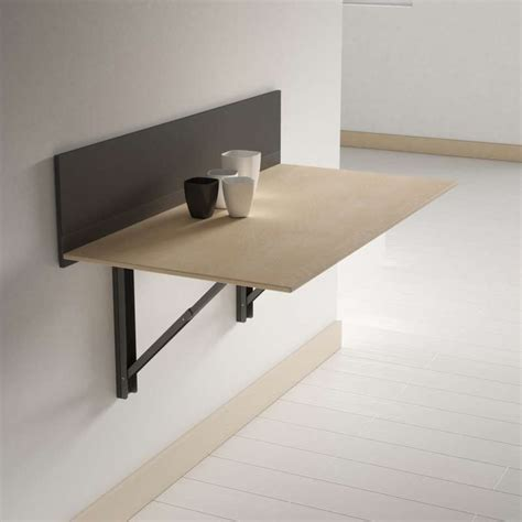 table de cuisine rabattable murale table pliante murale contemporaine click 4 pieds tables chaises et tabourets