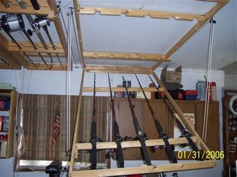 Ceiling Mounted Fishing Rod Holder Plans by Best 25 Fishing Rod Rack Ideas On