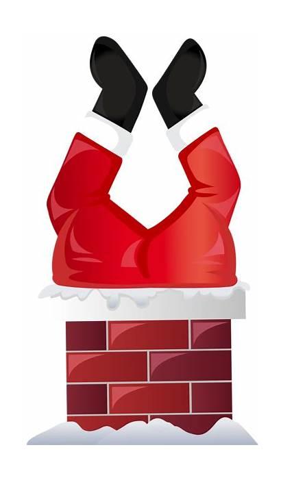 Santa Chimney Transparent Clip Funny Clipart Claus