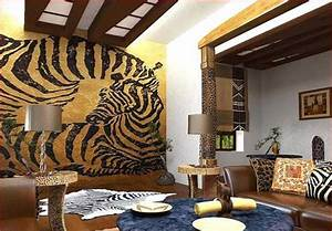 Exotic trends in home decorating bring animal prints into for Kitchen cabinet trends 2018 combined with jungle animal wall art