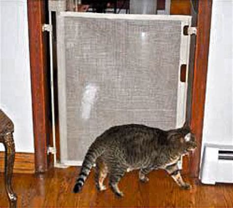 barriere securite escalier retractable retract a gate cat gate reviews look how cat owners use the gate