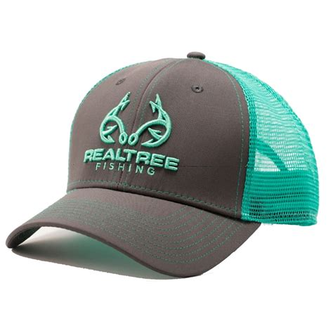 custom realtree mint fishing logo mesh  hat realtree