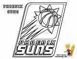 Basketball Printables Nba Phoenix Suns Bounce Coloring Sports Yescoloring League Name sketch template