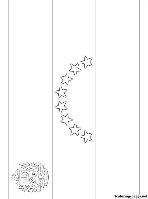 venezuela flag coloring page coloring pages