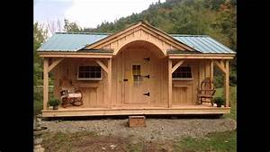 Vermont Post and Beam Sheds and Cabin kits - YouTube