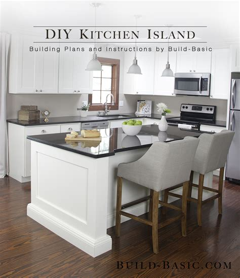 build  diy kitchen island build basic