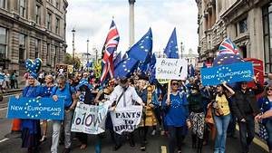 Thousands of anti-Brexit protesters march to parliament ...