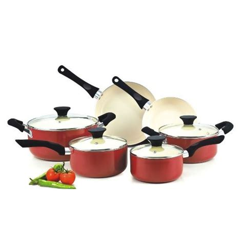 cook cookware ceramic nonstick piece coating stick non sets pan pot cooking kitchen cool pots nc handle stay types steel