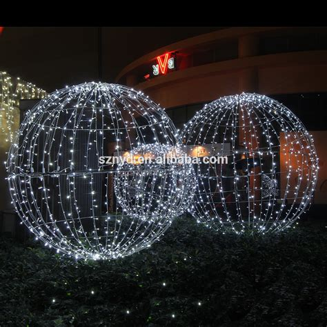 top sale light up large outdoor christmas balls for party