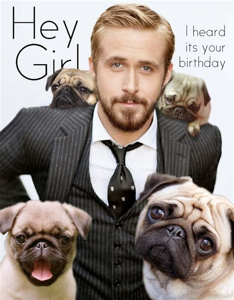 Happy Birthday Pug Meme - hey girl me and these pugs just wanted to wish you a happy birthday click here to