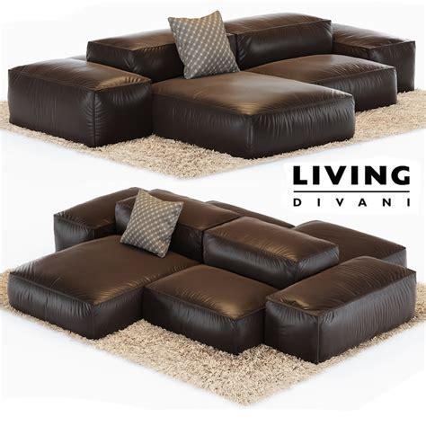 living divani soft sofa extrasoft living divani 3ds