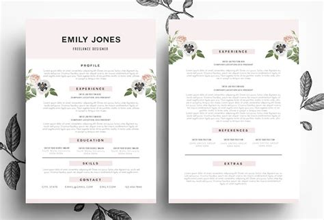 Pretty Resume Templates by Dissecting The And Bad Resume In A Creative Field Emily Henderson
