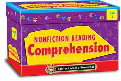 Reading Comprehension Cards Nonfiction Level Card Teacher