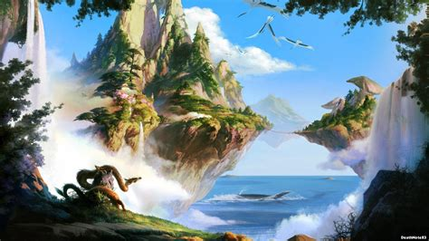 3d cartoon scenery background wall paper environmental fresh. Animated Scenic Wallpapers (51+ images)