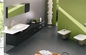 amenagement decoration salle de bain vert With salle de bain vert anis