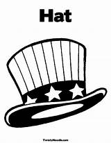 Hat Coloring Mexican Crazy Template sketch template