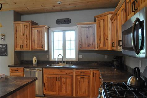rustic country kitchen cabinets country style rustic hickory farmhouse kitchen 4967