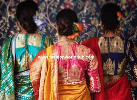 statement blouses make your saree interesting fashionworldhub