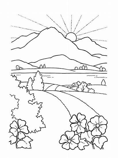 Faith Mountain Sunset Road Sun Landscape Rising